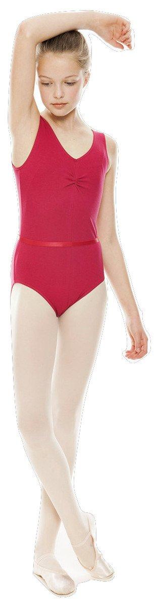 KDR008 All Colours Ballet Dance Gym Sleeveless Ruched Cotton Lycra Leotard + Belt By Katz Dancewear