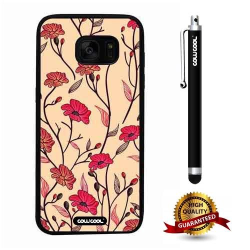 - Galaxy S7 edge Case, Flower Case, Cowcool Ultra Thin Soft Silicone Case for Samsung Galaxy S7 edge - Yellow Vine Hand Painted Orchid Camo