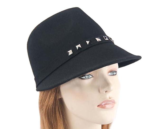 f556f71eda057 Max Alexander Black Winter Felt Ladies Modern Hat. Latest Fashion ...