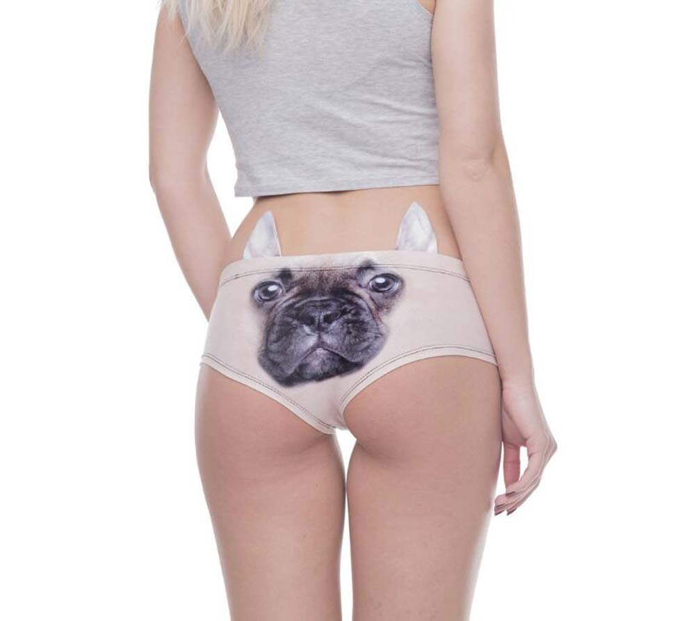 10 Piezas de niñas Ropa Interior de Las niñas de Lindo 3D Animal Bragas para los oídos Hipster Impreso Perro Ladies Briefs Cintura Baja Bragas Adolescentes Calzoncillos (Color : Dog, tamaño : OneSize) 06dde7
