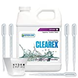 Botanicare Clearex Salt Leaching Clearing - Quart Solution Protect Plants Against Buildup of Nutrient Salt Deposits in Soils Includes 5 Pipettes and 4 oz Hydro Empire Measuring Cup