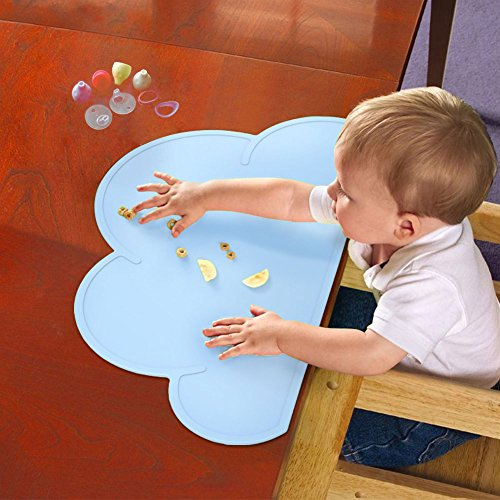 Butefo Baby Kid Children Non Slip Silicone Placemats Place