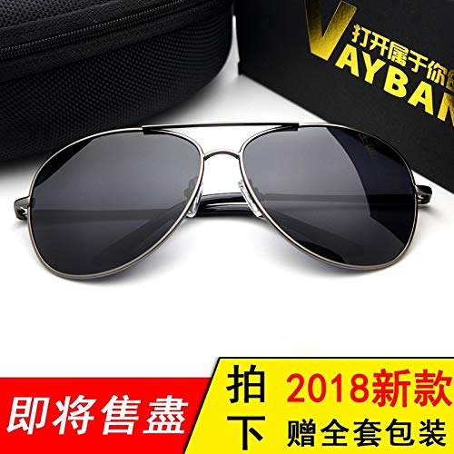 Jewelry Drivers Polarized (JEGOAU Sunglasses Men Man Polarized Sunglasses Women Girls Influx People Colorful yurt Men pol car Drivers Driving Mirror (Box Dark Gray Polarized (Send a Full Package))