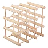 Giantex Wood Wine Rack Stackable Storage Storage Display Shelves (12-Bottle)