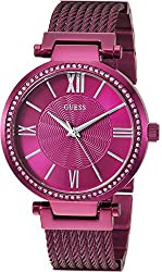 Guess Women's Quartz Stainless Steel Casual Watch, Color:red (Model: U0638l6)
