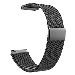 Emibele Universal Watch Band, Mesh Stainless Steel Bracelet Adjustable Replacement Strap for Sport Strap