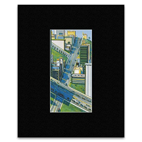 Thiebaud Poster (Wayne Thiebaud - Downhill Cross Streets 2010 Mini Poster - 40.5x30.5cm)