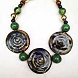 Effortlessly Stylish Blue and Green Chunky Necklace, Statement Necklace, Women's Jewelry Necklace, 100% Satisfaction Guaranteed