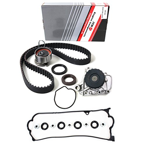 (NEW ITM312WPVC (104 teeth) Timing Belt Seals Kit, Water Pump, & Valve Cover Gasket Set for 01-05 Honda Civic 1.7L)