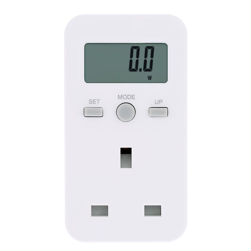 KKmoon UK Plug Plug-in Digital LCD Energy Monitor Power Meter Electricity Electric Usage Monitoring Socket PEPAZUALAZA569