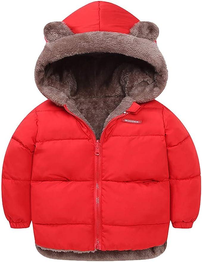 Kids Baby Girls Boys Faux Fur Hooded Bear Warm Waistcoat Children Outwear Vest