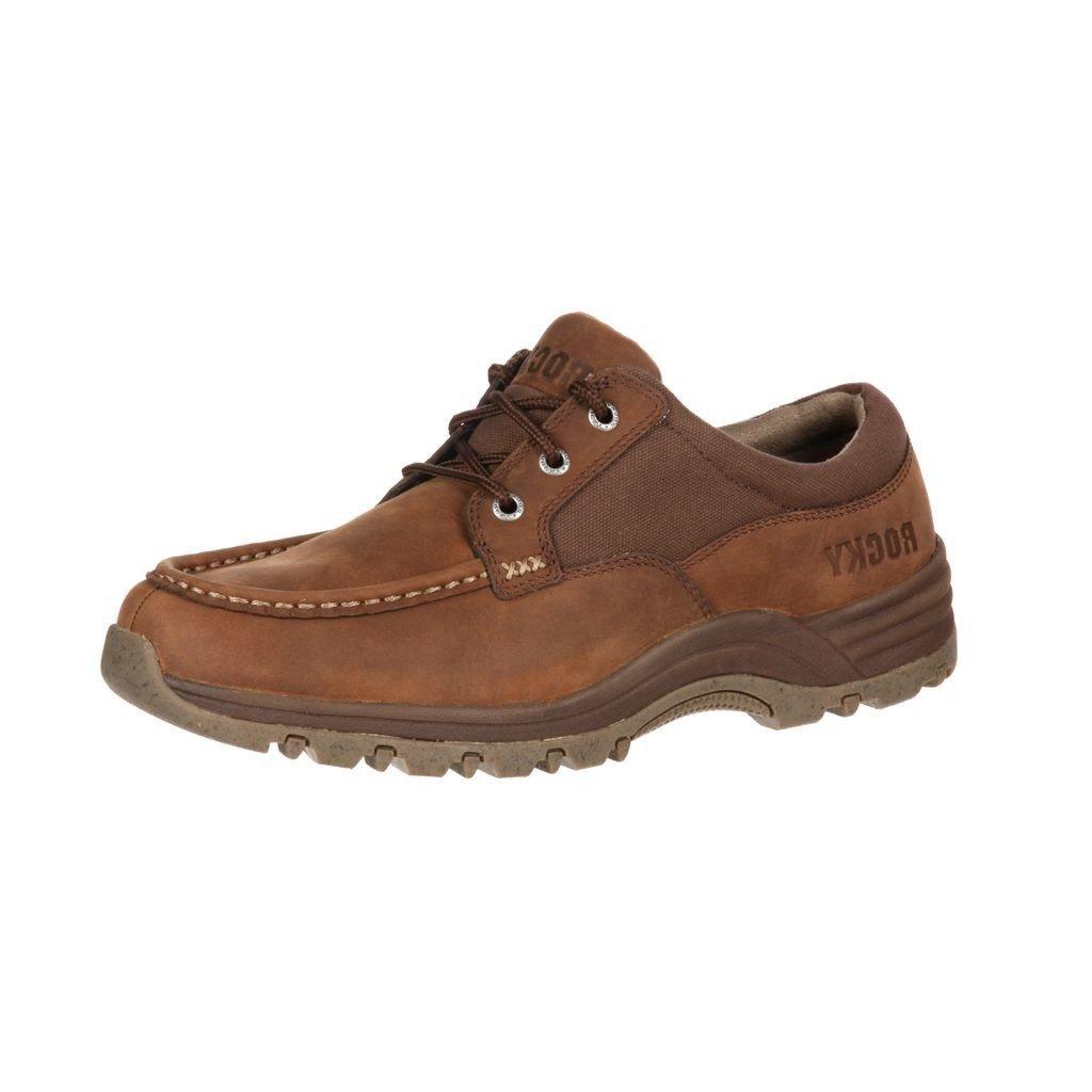 Rocky Work Shoes Mens Lakeland Oxford Microfiber 7 M Brown RKS0200