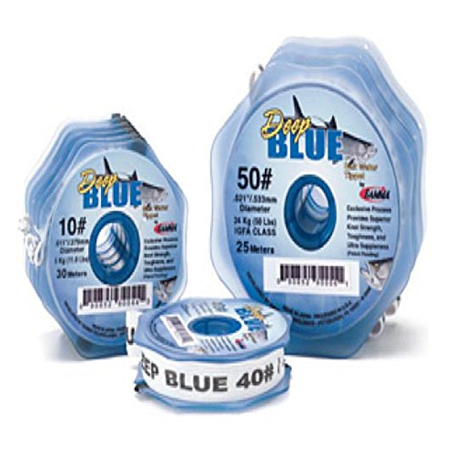 (Frog Hair Deep Blue Saltwater Tippet, 6LB, 30m)