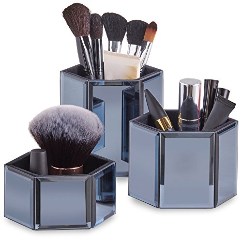 Beautify Mirrored Hexagon Cosmetics Accessories product image