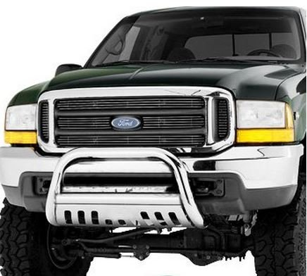 R&L Racing Chrome Stainless Steel Bull Bar Brush Bumper Guard Heavy Duty Ford F250 / F350 / F450 / F550HD