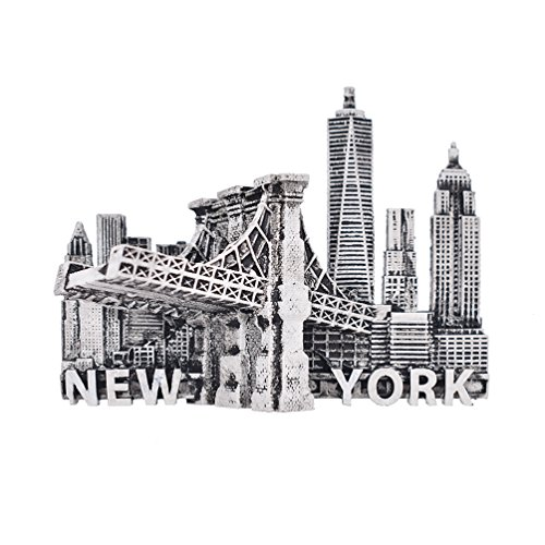 Towashine Small Vintage New York 3D Resin Fridge Magnet Hand Painted Tourism Souvenir Magnets Home Decoration (York Refrigerator Magnet New)