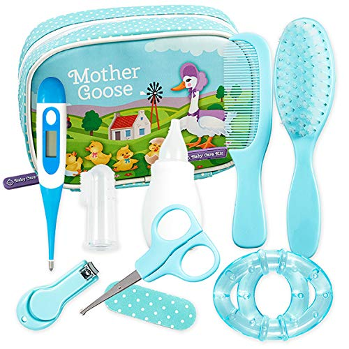 YELLODOOR Baby Grooming Kit | Essential Baby Care Accessories for Travelling & Home Use | with Manicure Set, Thermometer & Finger Puppet Toy | Ideal for Newborn, Infant, Toddler Girls & Boys | 17 Pcs from Yellodoor