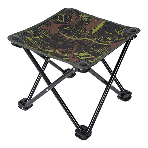 Ultralight Camping Chair, Pantete Collapsible Folding Stool Portable for Travel/Hiking/Gardening/Fishing/Beach/Camping, Mini Outdoor Slacker Chair with Carrier Strap Bag, 12.4''x12.4''x11'' Camouflage by Pantete