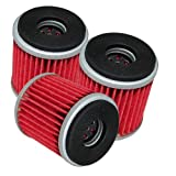 Caltric 3-PACK Oil Filter Fits YAMAHA 450 YFZ450 YFZ-450 LIMITED SPECIAL EDITION 2-BLACK FLAMES 2004-2009 2012-2013