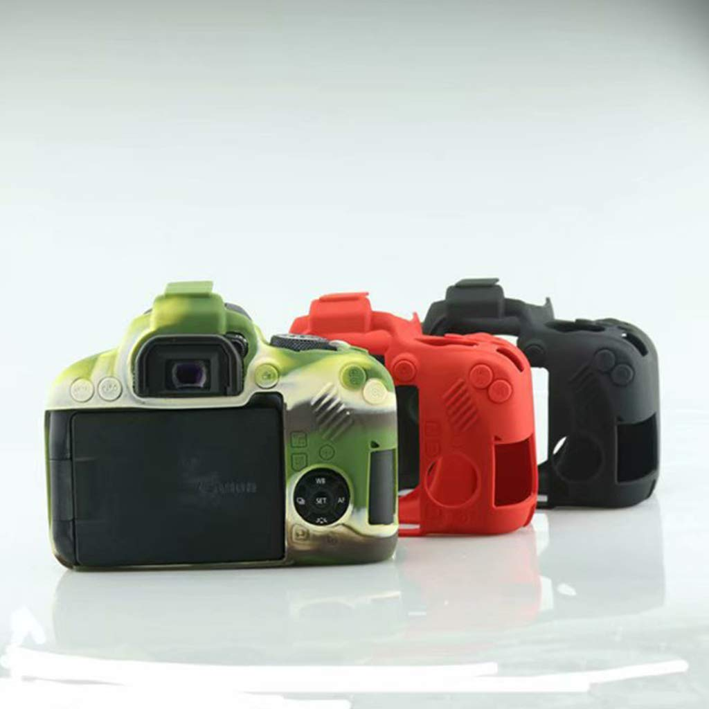 Army Green William-Lee Carcasa Protectora de Silicona antiara/ñazos Compatible con c/ámaras Canon EOS 800D 12x5x7cm//4.7x1.9x2.7in Silicona