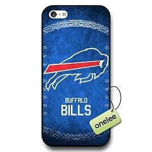 NFL Buffalo Bills Team Logo Case For Iphone 5/5S Cover Hard Black Plastic Case CovBlack