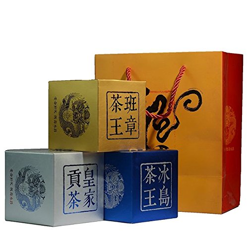 Dian Mai Combination Dragon Series Royal Tribute Tea Icelandic Tea King Banzhang Tea King Pu'er Health Combination 500g/brick Total 1500G 组合装龙印系列 皇家贡茶 冰岛茶王 班章茶王 普洱生熟组合500克/砖 共1500G by Dian Mai 滇迈