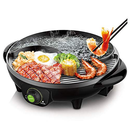 Cheap LIVEN Electric Hot Pot with Grill and Non-Stick Coating 1300W 120V TAIJI