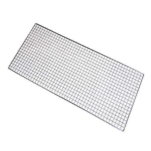 Prom-near BBQ Mesh Japanese Style Barbecue Grill Baking Grid of Extra Large Size, Grilled Net Outdoor Barbecue Clip Barbecue for Vegetables, Chops and Many Other Food