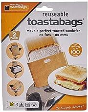 Toastabags Broodtrommel, dubbele verpakking, 100 keer bruikbaar, goud