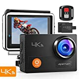 APEMAN Action Camera 4K WiFi 16MP Waterproof Underwater Camera Ultra Full HD Sport Cam 30M Diving with 2' LCD 170 Degree Wide-Angle, 2.4G Remote Control, 2 Rechargeable Batteries, 20 Accessories Kits
