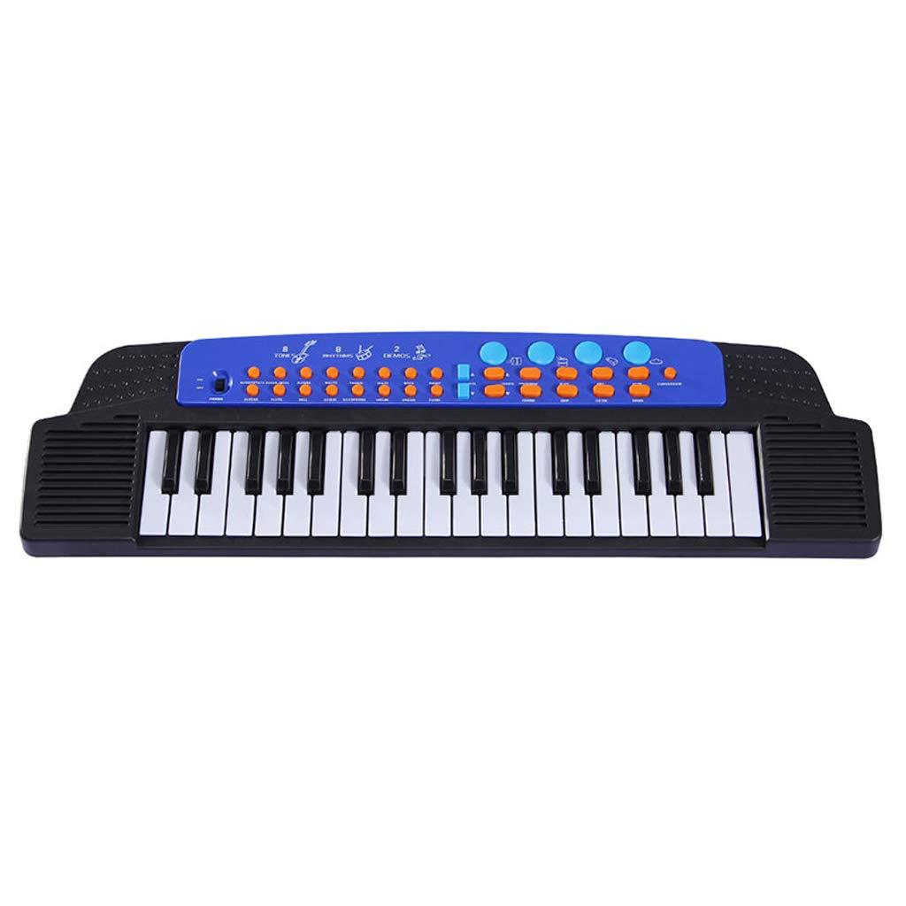 ベストチョイス 子供のキーボード37キーパズル音楽早期教育啓蒙 ( Color : 黒 )B07GPDCSDN