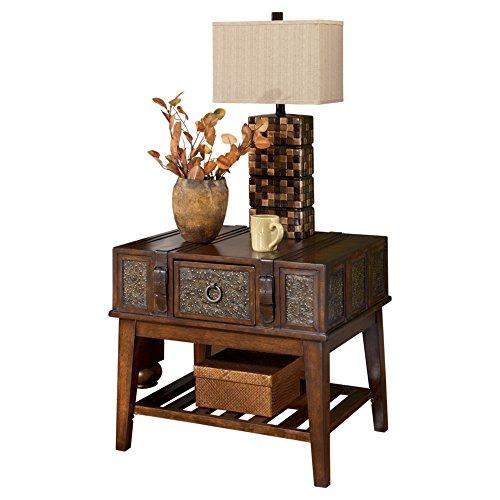 Ashley Furniture Signature Design - McKenna End Table - Rectangular -Vintage Casual - Dark Brown ()