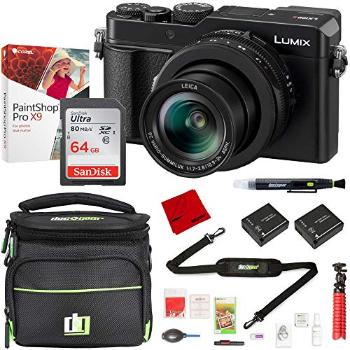 Panasonic LUMIX DC-LX100 II Point and Shoot Digital Camera with 64GB Camera Bag Bundle
