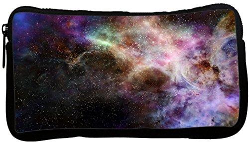 Rikki Knight Galaxy Nebula Cloud Gas Sky Star Field Green Purple Colors Neoprene Pencil Case (dky-Neo-pc45092)
