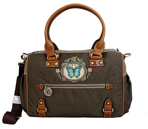 Leon tine Hagoort Alesan M Carry All borsa da donna in acciaio inox con manico grigio custodia oxs