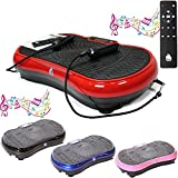 Gym Master 2700W Crazy Fit Vibration Massage Plate With Bluetooth, Speaker & Touch Panel (Red)
