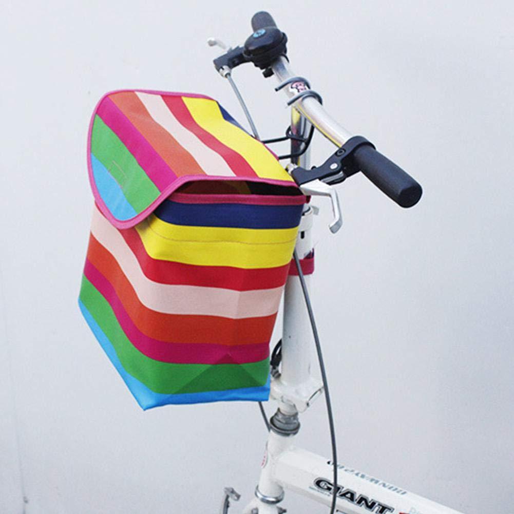 Cesta De Bicicleta Delantera Manillares De Bicicleta Accesorios De Ciclismo Cesta De Bicicleta Canvas