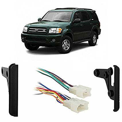 Amazon.com: Fits Toyota Sequoia 2003-2007 Double DIN Harness Radio on aftermarket radio connectors, aftermarket radio antenna, aftermarket engine harness, jvc radio harness, aftermarket wire harness, aftermarket radio with navigation, 2012 dodge ram radio harness, aftermarket stereo color codes, stereo harness, aftermarket stereo adapter box,