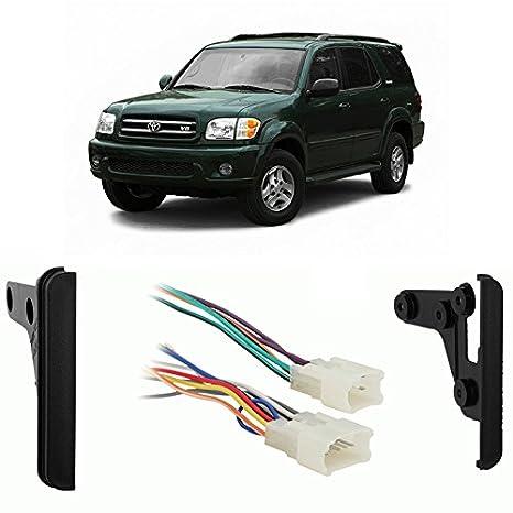 amazon com fits toyota sequoia 2003 2007 double din harness radio2003 Toyota Sequoia Wiring Harness #4