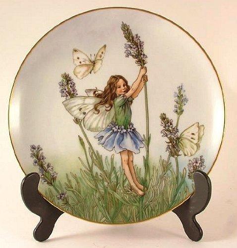 Heinrich Flower Fairies Collector plate - The Lavendar Fairy - by Cicely Mary Barker - CP986