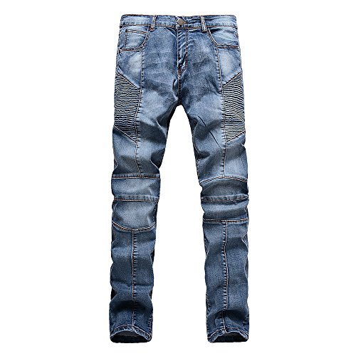 Just No Logo Men's Straight Slim Fit Biker (Logo Straight Jean)