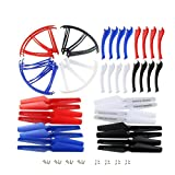 Coolplay 4 Colors Syma X5SC X5SW Main Blade Propellers & Protectors Frame & Landing Skid Included Mounting Screws for RC Mini Quadcopter Toy