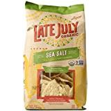 Late July Organic Restaurant Style Tortilla Chips Sea Salt (Pack of 9)