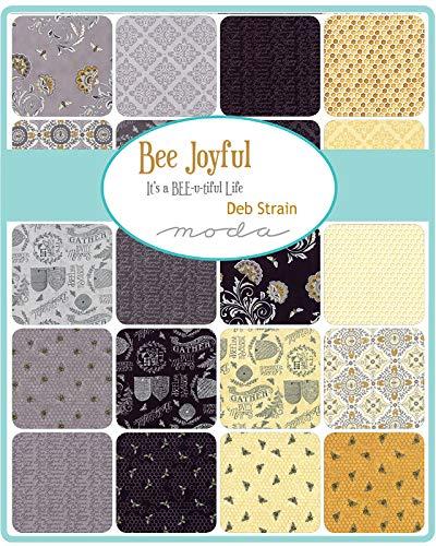 Deb Strain Bee Joyful 26 Fat Quarters 1 Panel Moda Fabrics 19870AB by MODA (Image #2)