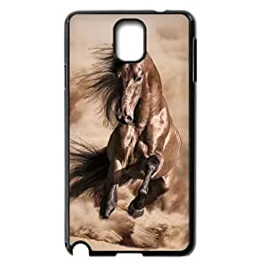 JFLIFE Beautiful Horse Phone Case for samsung galaxy note3 Black Shell Phone [Pattern-1]