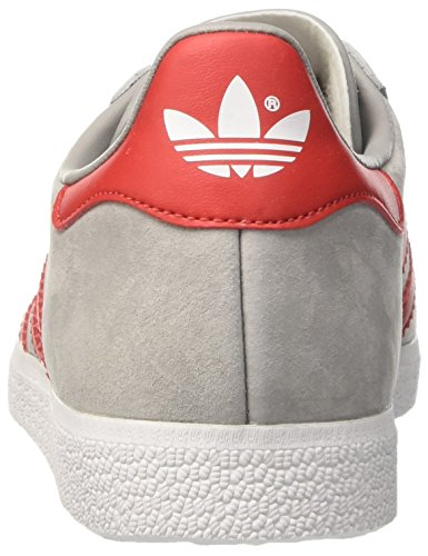 adidas Gazelle, Entrenadores Unisex, , Gris (Mgh Solid Grey/Scarlet/Ftwr White)