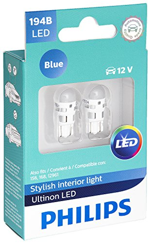 Philips 194 Ultinon LED Bulb (Blue), 2 Pack