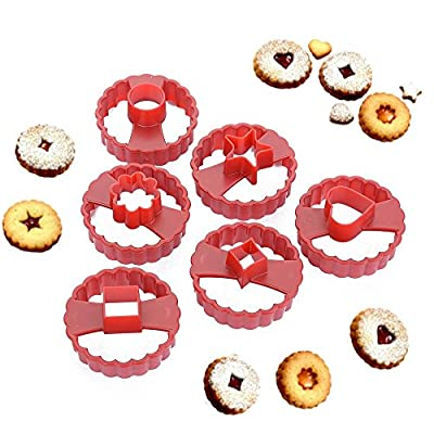 New Arrival Set of 6 Multifunctional Cookie Cutter Cake Decorating Fondant Cutters Tool Linzer Cookie Cutters