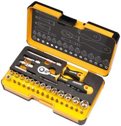 Felo 05783616 R-GO XL Set de 36 herramientas con llave de carraca Ergonic