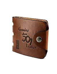 Asiv® Men's Fashion Vintage Short Style PU Leather Wallet Transverse Rectangular Billfold